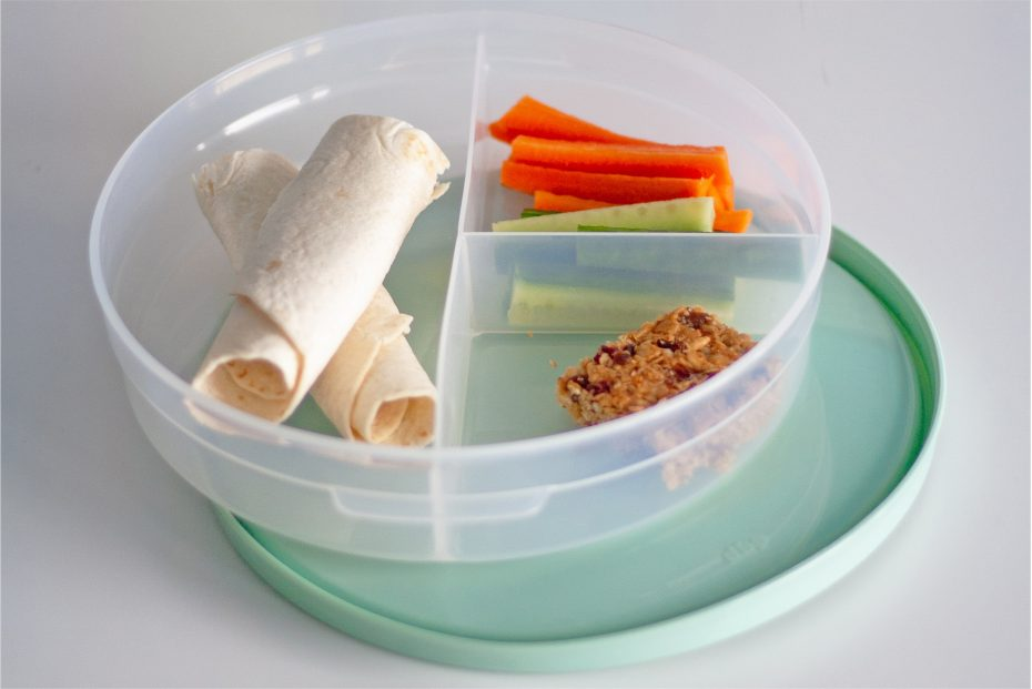 Snacks Served in a 3 Compartment Dish