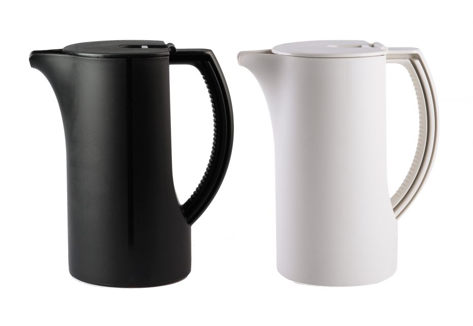Coffee Pots in Black and Natural Colour