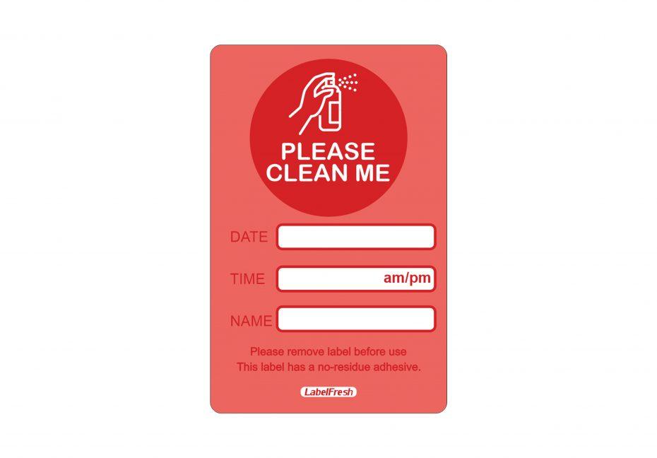 Please Clean Me Labels