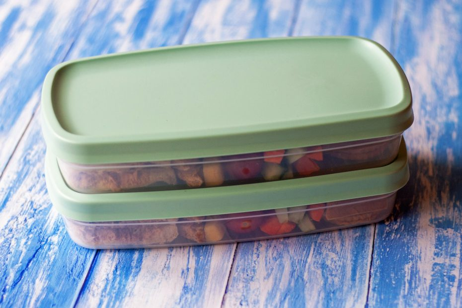 Stacked lunch boxes
