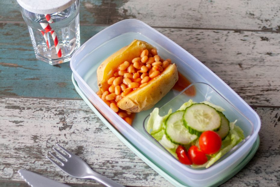 Jacket potato in lunch box