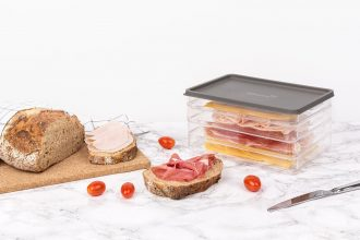Deli Box with Meats and Cheeses Closed